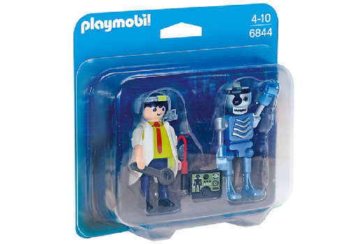 Playmobil 6844 Scientist with Robot Duo Pack